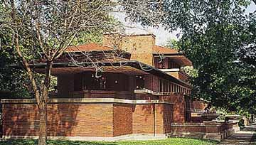 Exterior view of Robie House